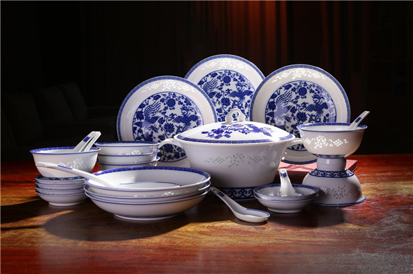 凤凰牡丹28头餐具