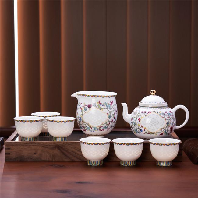 四合如意茶具八件套